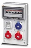 Quadr. cabl. bipresa- Schuko- 2p+T 16A/220V- 3p+T 16A- 3p+N+T 380V