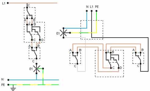 I circuiti di base voltimum italia - Schema elettrico bagno ...
