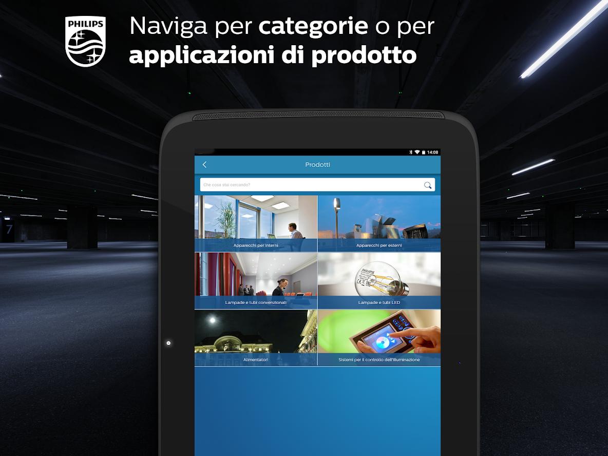 App catalogo philips lighting tutti i prodotti d