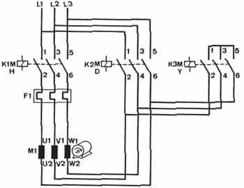 Avviamento stella triangolo di un motore asincrono for Teleruttore schema